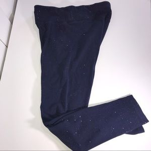 Justice Girls Blue Sparkly Leggings in Size 18